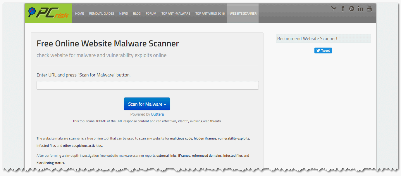 Online-Website-Malware-Scanner - Mbah WP
