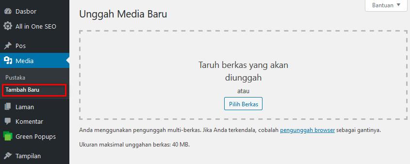 Upload Gambar Lewat Medi Uploader